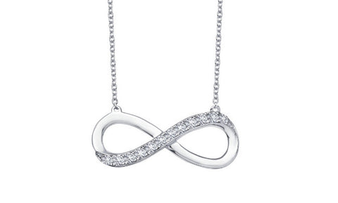 Lafonn Sterling Silver Large Infinity Pendant