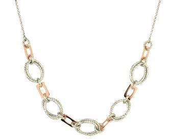 Lady's Sterling Silver Rose Gold Plated Abigail Necklace.