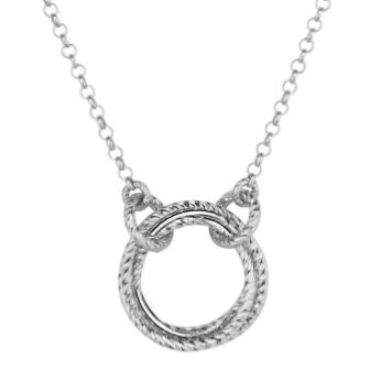 Lady's Sterling Silver Single Love Knot Necklace.