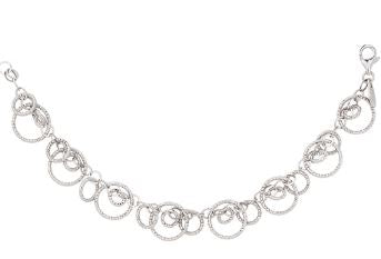 Lady's Sterling Silver Circles Galore Necklace.