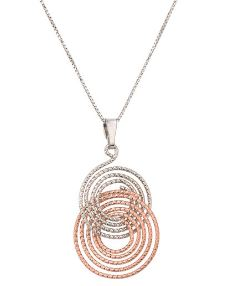Lady's Sterling Silver Rose Gold Plated Elsa Pendant.