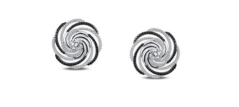 Lafonn Sterling Silver Simulated Diamond Pave Swirl Earrings