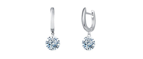Lafonn Sterling Silver Simulated Diamond In Motion Single Dangle Earrings