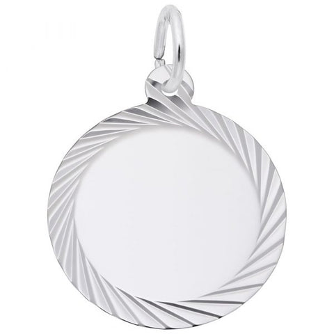 Small Diamond Faceted Disc Charm