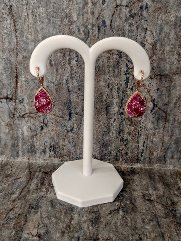 Kandace's Corner 14K Sapphire and Ruby Earrings