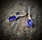 Traveling Trunk Show Tanzanite and Diamond Earrings