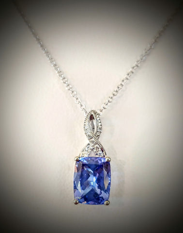 Traveling Trunk Show 14K White Gold and Tanzanite Necklace