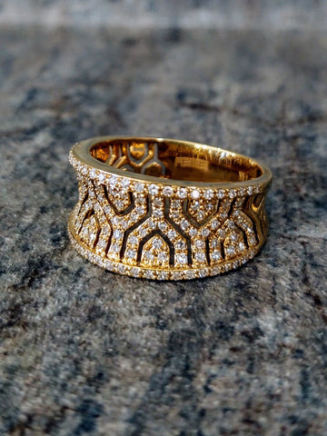 Traveling Trunk Show Gold and Diamond Fashion Ring