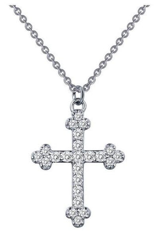 "Lafonn Sterling Silver/ Simulated Diamonds Length 18"" Pendant"