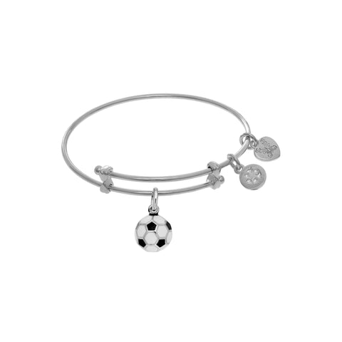 Angelica White Charm with Enamel Soccer Ball  WTGEL9115