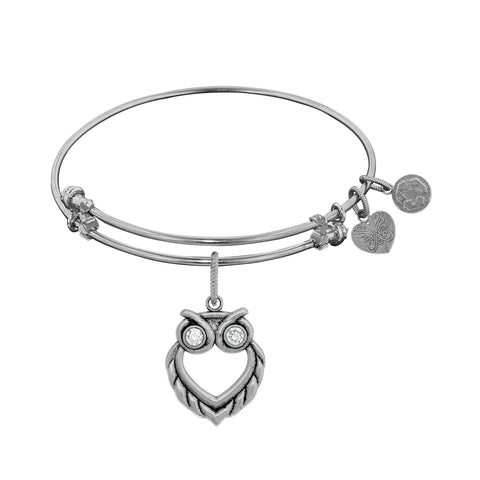 Angelica Owl Charm Bangle WGEL1351
