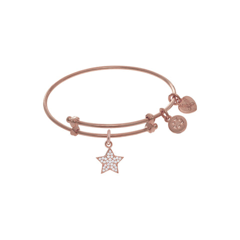 Angelica Brass Brass with Pink Finish Star Charm  PTGEL9043