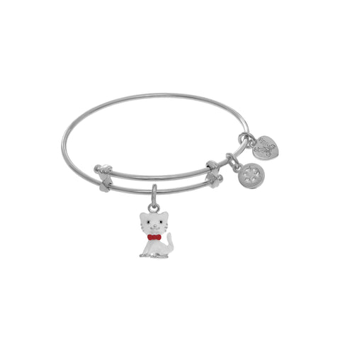 Angelica Brass with White Cat Charm WTGEL9091