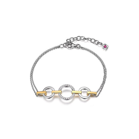 ELLE Sterling Silver and Gold Plated Bracelet B0394