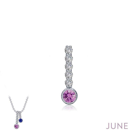 Lafonn June Birthstone Love Pendant