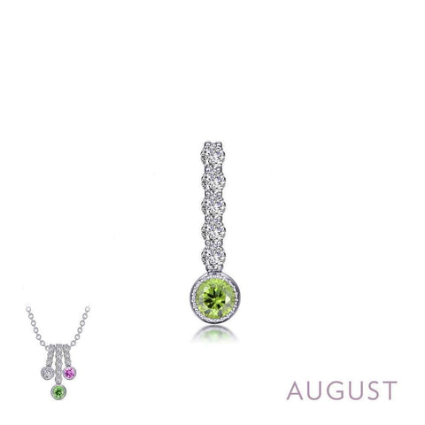 Lafonn August Birthstone Love Pendant