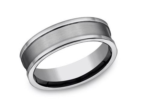 Benchmark Cool Satin-Finished 7mm Tungsten Band CF67450TG