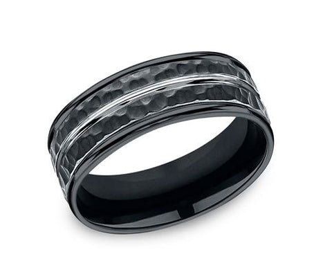 Benchmark Hammered Cobalt Wedding Band RECF58186CC
