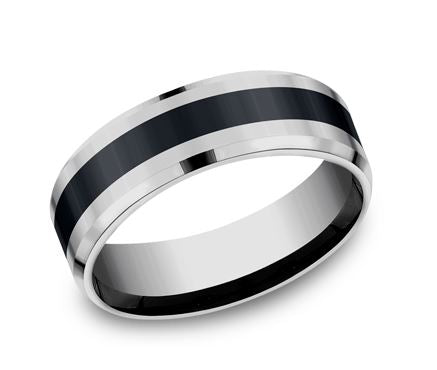 Benchmark Comfort-Fit Tungsten Band CF67861CMTG