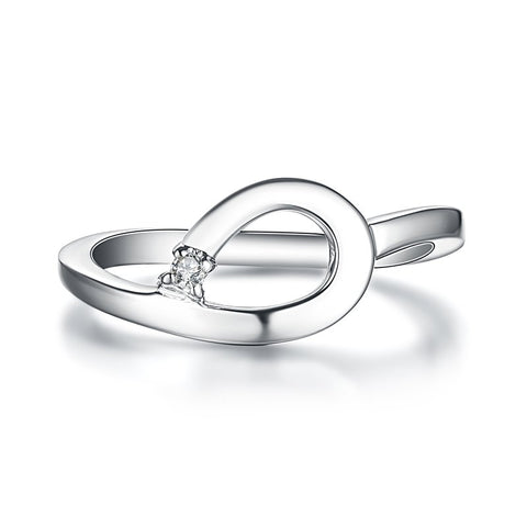 Bentelli Sterling Silver and Diamond Ring R2562