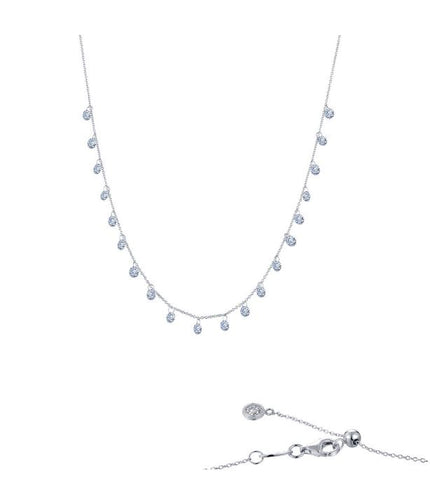 Lafonn Frameless Raindrop Necklace N0077CLP