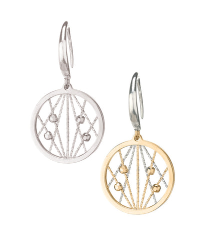 Frederic Duclos Sterling Silver/Yellow Gold Plated Ophilia Earrings