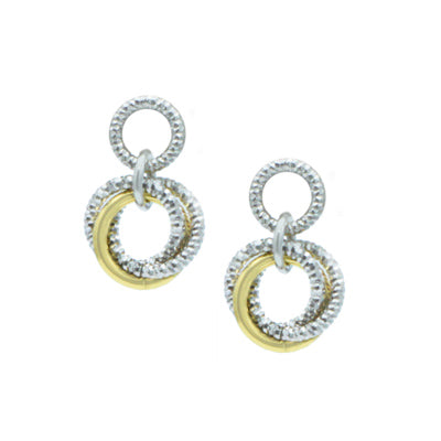 Sterling Silver + Yellow Gold Plated Lovely Knot Earrings