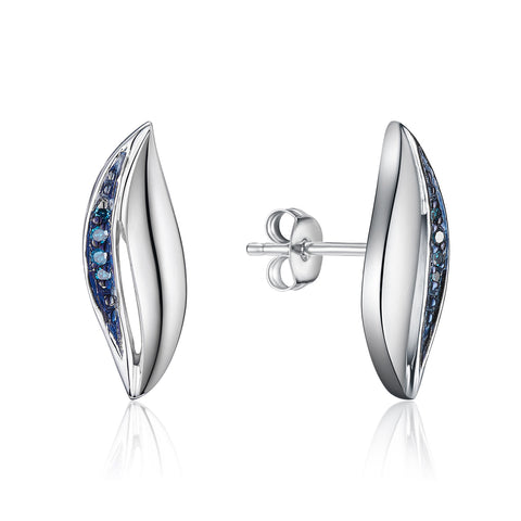 Bentelli Blue Diamond Earring Set