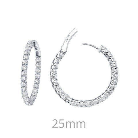Lafonn Simulated Diamond Earrings in Sterling Silver Bonded with Platinum