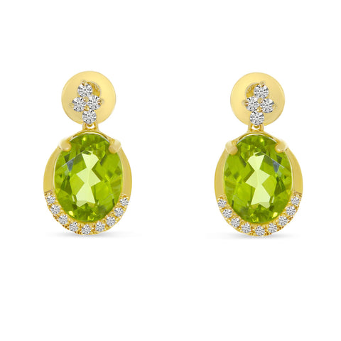 Brevani Peridot and Diamond Earrings E4252-08