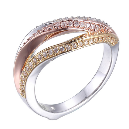 ELLE Ocean Collection Tri-Color Ring R03817