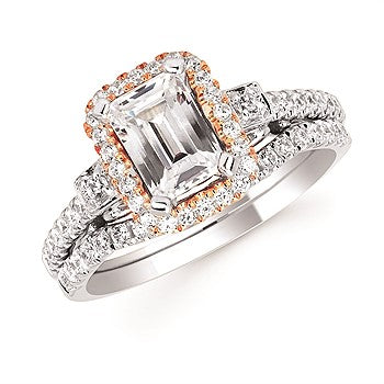 Ostbye Two Tone Forever Elegant Engagement Ring FE17A22