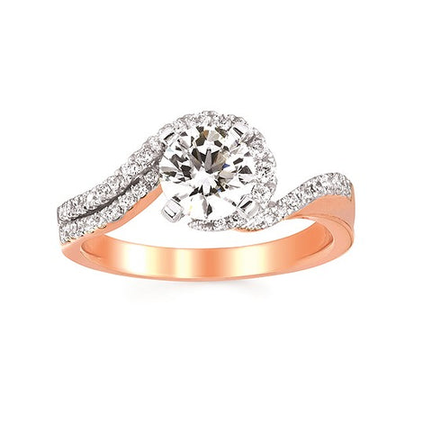 Ostbye Two Tone Contemporary Engagement Ring FE18A11