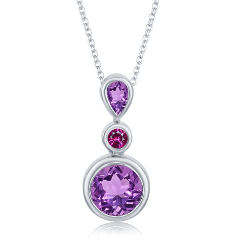 Sterling Silver 2.24 ct. Amethyst Pendant