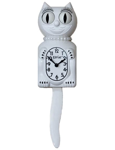 Lady Limited Edition Kit-Cat Klock (15.5″ high) White