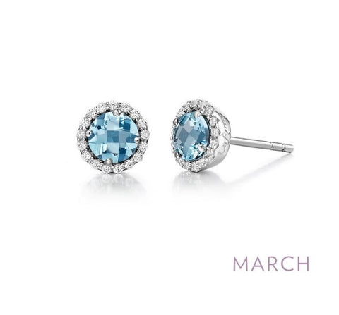 Lafonn March Birthstone Stud Earrings
