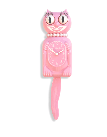 Pink Miss Limited Edition Kitty-Cat Klock (12.75″ high)