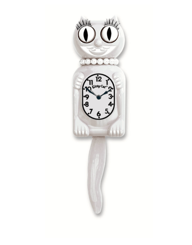 Limited Edition White Miss Kitty-Cat Klock (12.75″ high)