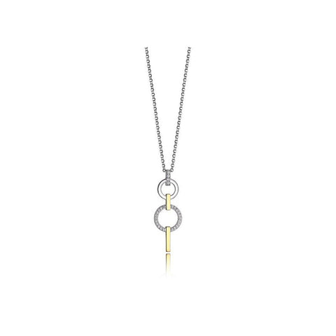 ELLE Two Tone Sterling Silver Necklace N0900