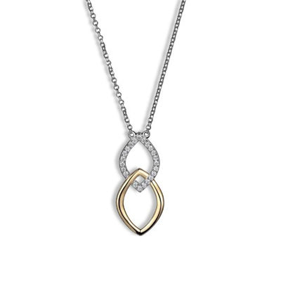 ELLE Sterling Silver Wave Necklace N10006YWZ17