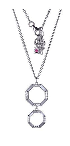 ELLE Sterling Silver Carde Necklace