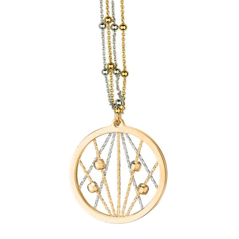 Frederic Duclos Yellow Gold on Sterling Silver Ophilia Necklace