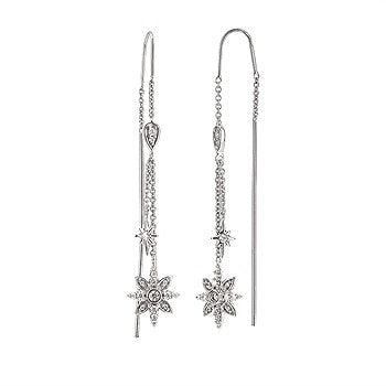 Ostbye 1/4 Ctw. Radiant Universe® Diamond Dangle Earrings In 14K Gold