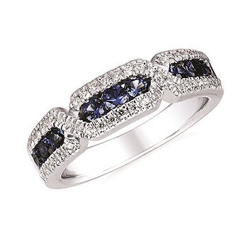 Ostbye Sapphire And Diamond Fashion Ring In 14K Gold OF17A39SA