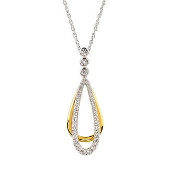 Ostbye Diamond Drop Pendant OP18A19