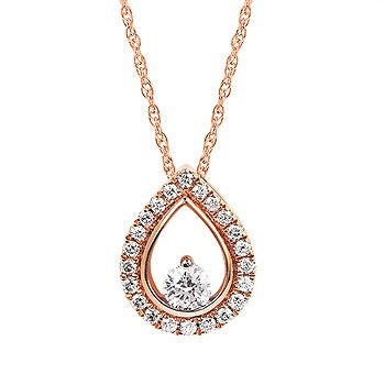 Ostbye Diamond Drop Pendant OP18A20