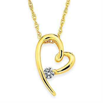 Ostbye Diamond Heart Pendant P08A05