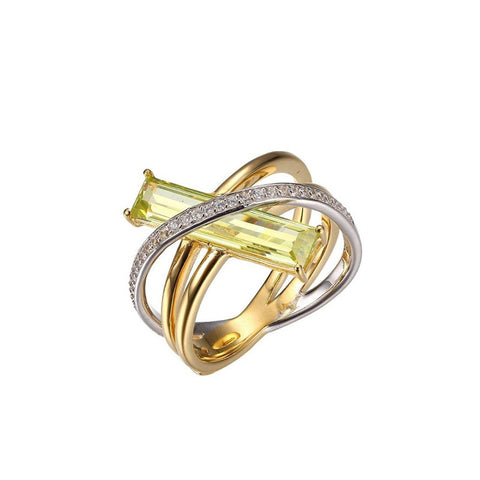 ELLE Two Tone Peridot Ring R04247