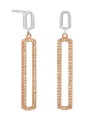 Rarest Rainbow Modern Rose Gold Diamond Earrings 40S17702-RG