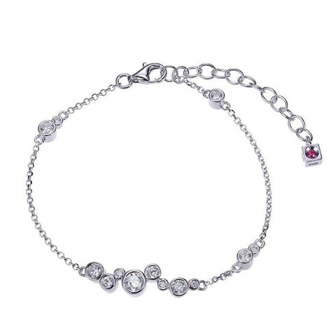 ELLE Bubble Collection Sterling Silver and CZ Bracelet B10009WZ